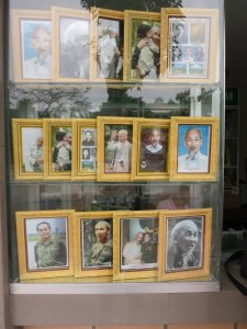 Ho Chi Minh. Framed portraits for sale near the mausoleum.