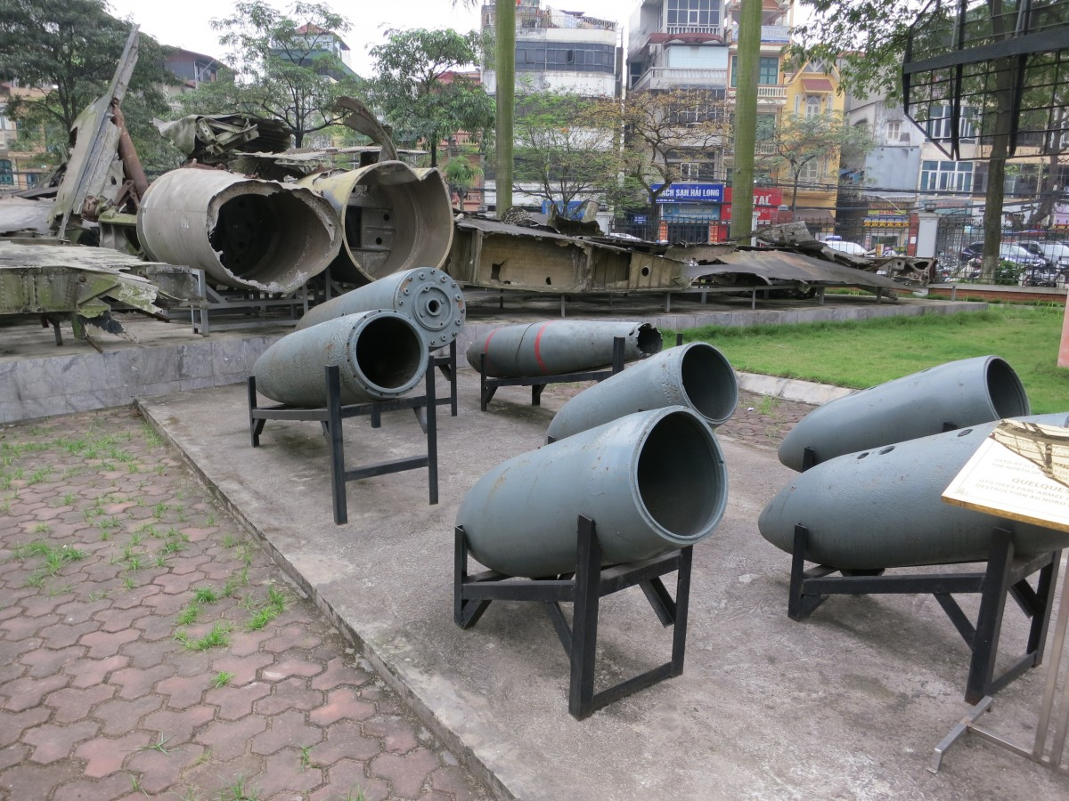 Type of bombs dropped on civilian targets during the December 1972 bombings over Ha Noi.
