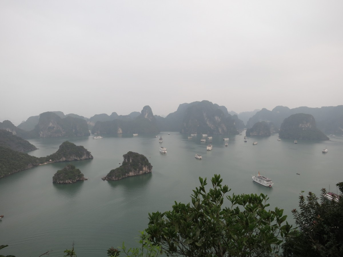 A part of Ha Long Bay as seen from the island we climbed to the top of.