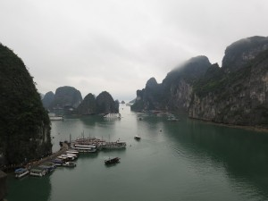 Ha Long Bay, view from cave.