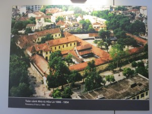 "Picture of Hoa Lo prison (the ""Hanoi Hilton"") as it once looked. Only a small part of this building is left. A high rise hotel is now next door."