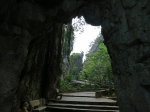Walking through one of the Marble Mountains. Just south of Da Nang.