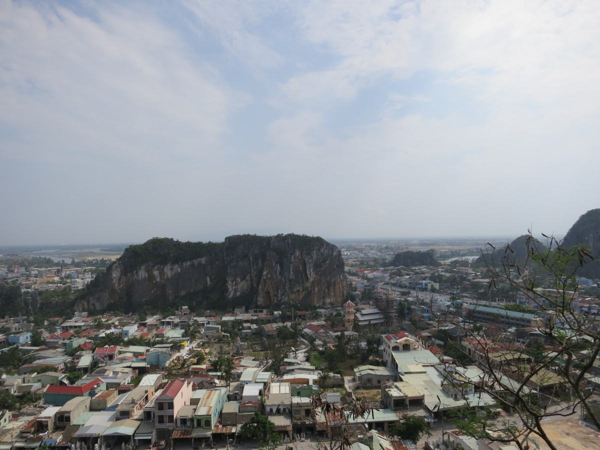 South view from on top of one of the marble mountains in Da Nang.