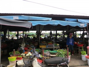 Market in Hoi An. The river is just on the other side.