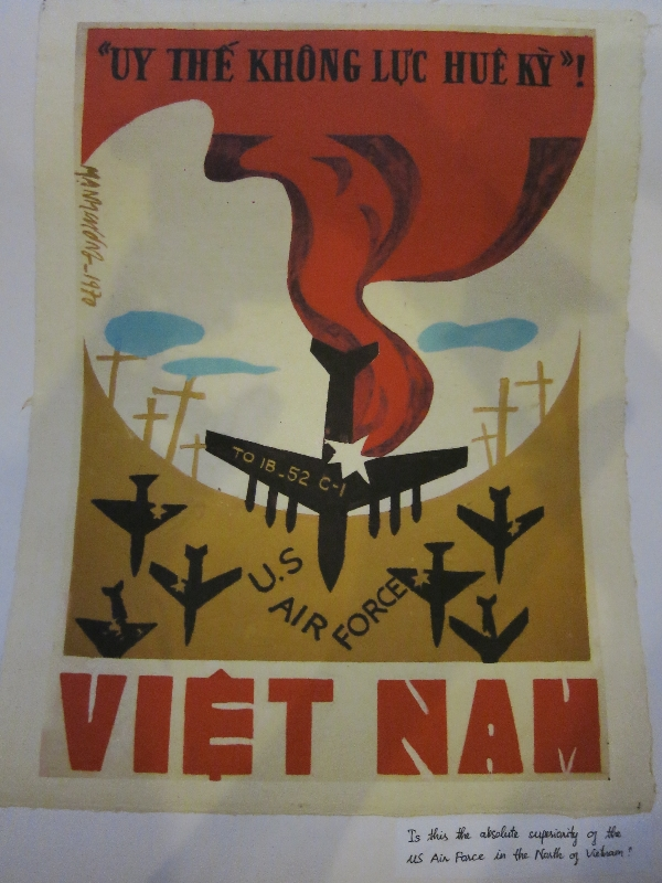 "Translation at bottom reads: ""Is this the absolute superiority of the US Air Force in the North of Vietnam?"""
